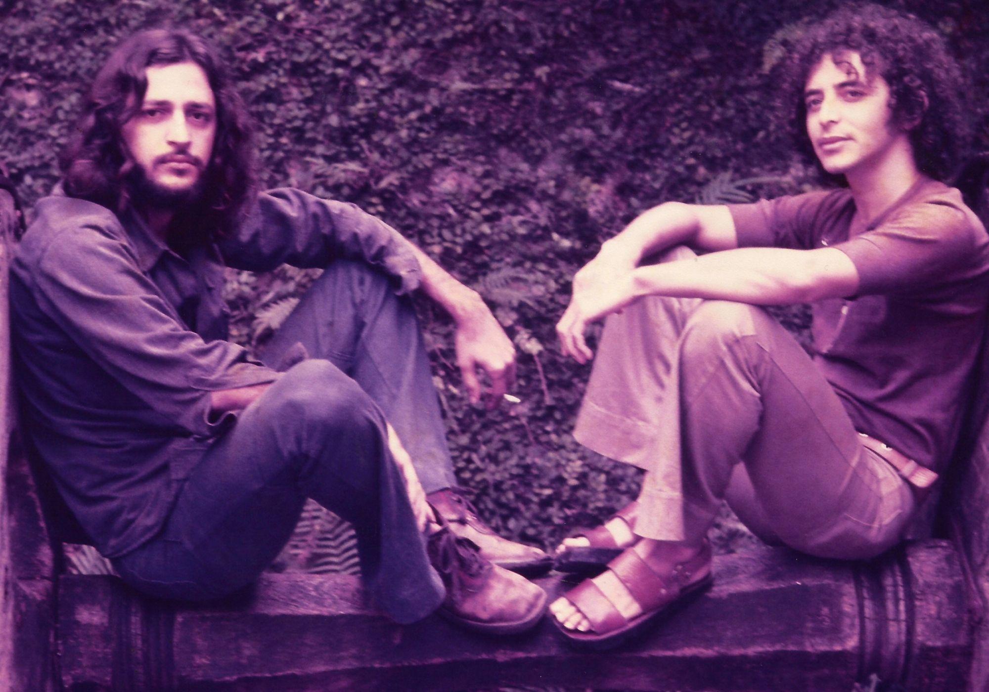 Foto de Geraldo azevedo e alceu valenca nos anos 70